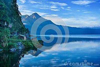 Lake and Mountain in Bali