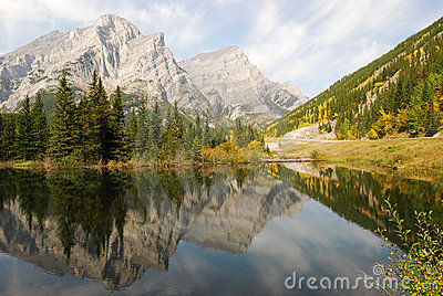 Lake and mountain reflections