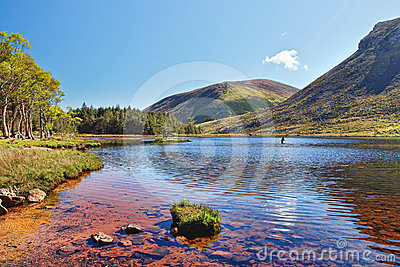 Lake in the mountains of  Peninsula in Ireland.