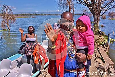 Lake Naivasha. Kenya. Editorial Photography