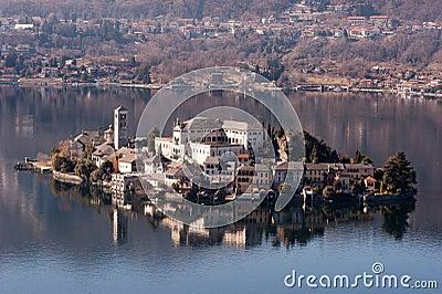 Lake Orta famous italian landscape