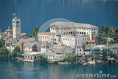 Lake Orta, Italy. Isola di San Giulio