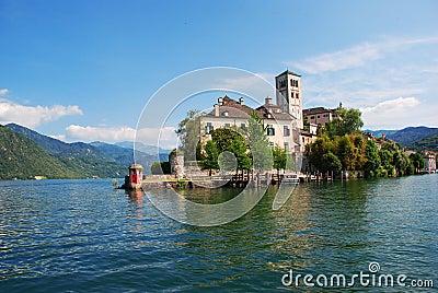 Lake Orta, San Giulio island, Italy