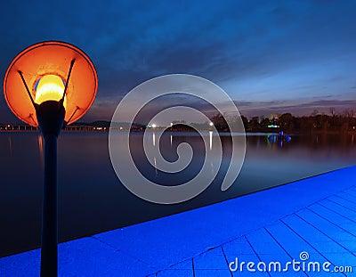 Lake Park at dusk