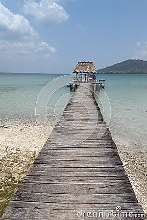 Lake Peten Itza in Guatemala