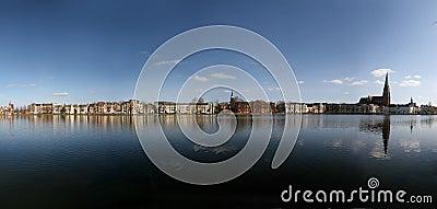 Lake Pfaffenteich in Schwerin, Germany