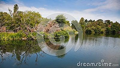 Lake in Phoenix Park