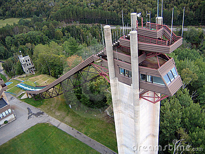 Lake Placid Ski Jumps in Summer