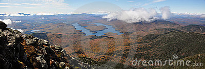 Lake Placid and Whiteface Mountain panorama