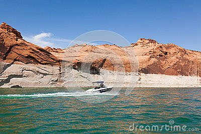 Lake Powell, in Glen Canyon  in Utah and Arizona