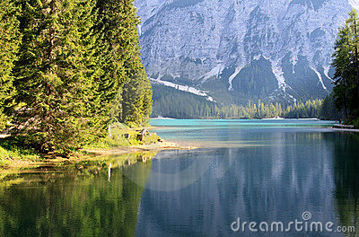 Lake prags in tyrol