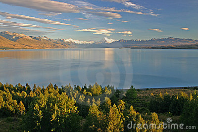 Lake Pukaki with Mt. Cook