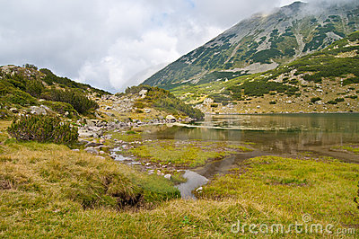 Lake Ribno on Pirin Mountain