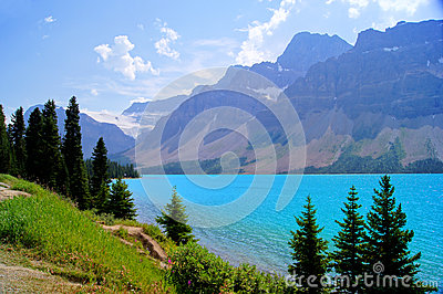 Lake scene in the Canadian Rockies