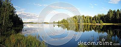 Lake scenery panorama
