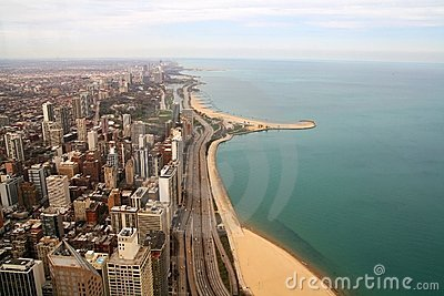 Lake shore of Chicago