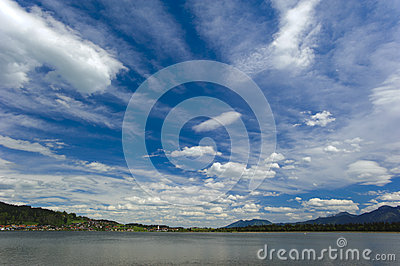 Lake and sky in bavaria