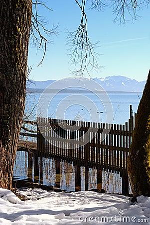 Lake Starnberger See in Bavaria, Germany