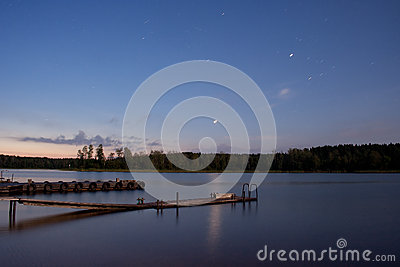 Lake Seliger: stars nightscape