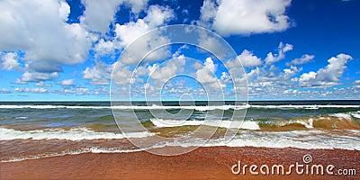 Lake Superior Beach Panoramic