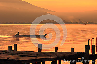 Lake Suwa Editorial Stock Image
