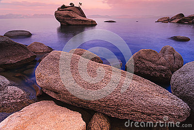 Lake Tahoe after sunrise
