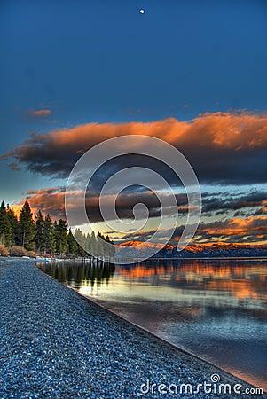 Free Lake Tahoe Sunset Stock Photography - 4928262
