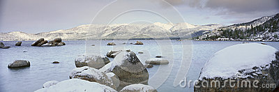 Lake Tahoe in Wintertime,