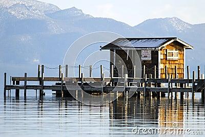 Lake tahoe wooden pier