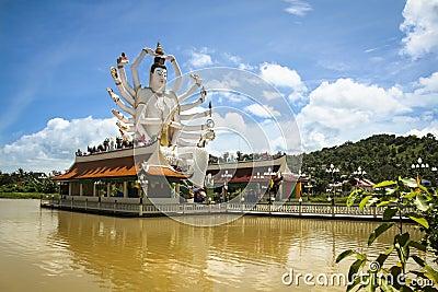 Lake temple buddha statue koh samui thailand