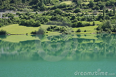 Lake in Tena valley, Pyrenees