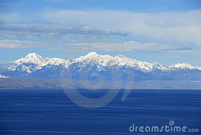 Lake Titicaca as seen from Isla del Sol