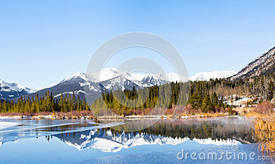 Lake Vermilion and mountains