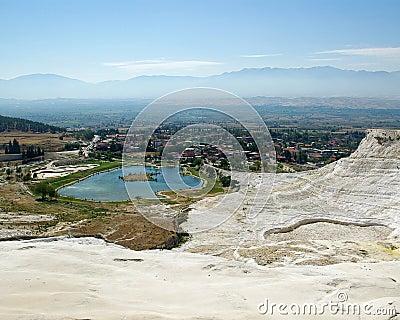 Lake view in Pamukkale