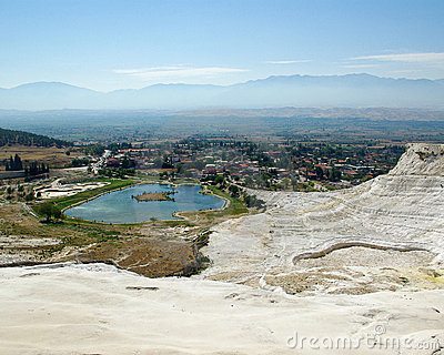 Lake view in Pamukkale