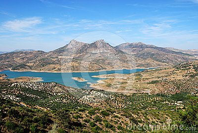 Lake view, Zahara de la Sierra, Andalusia, Spain.