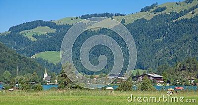 Lake Walchsee,Koessen,Tirol,Austria