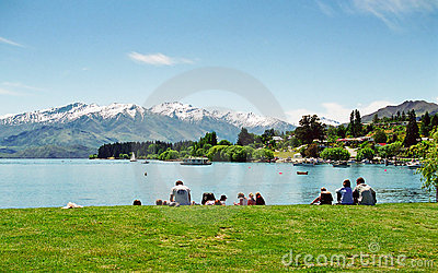 Lake Wanaka, New Zealand Editorial Image
