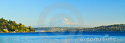 Lake Washington Panorama, Mount Rainier, Seattle