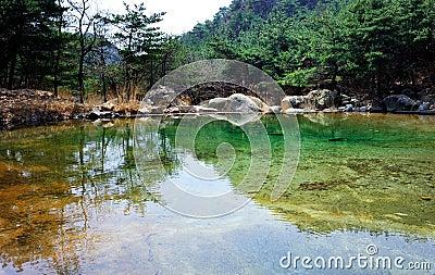 In lake water