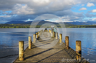 Lake Windermere in Cumbria, England