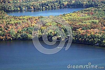 Lake Wissota autumn boating Wisconsin