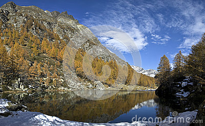 Lake of the witches (blue lake) Alp Devero