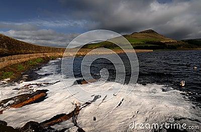 Lake wood log dovestone reservoir