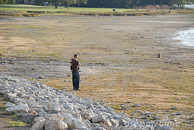 Lakebed during Texas Drought