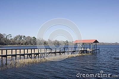 Lakefront boat dock