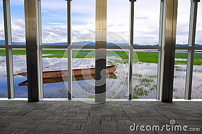Lakes outside the window