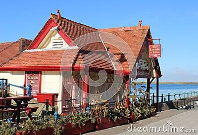 The Lakeside Inn smallest pub in Britain Editorial Image