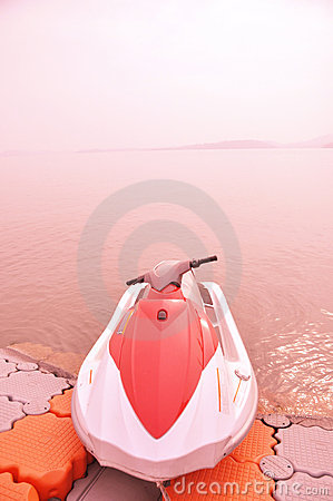 Lakeside motorboat