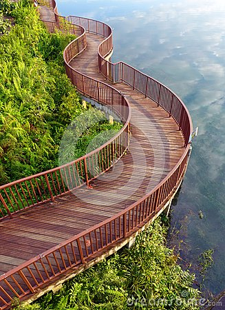 Lakeside nature walk way